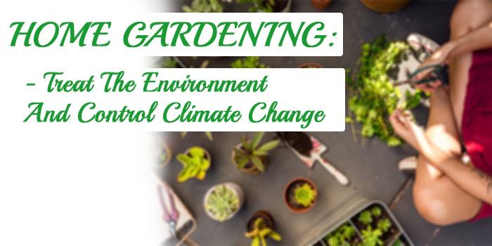 home gardening treat the environment and control climate change